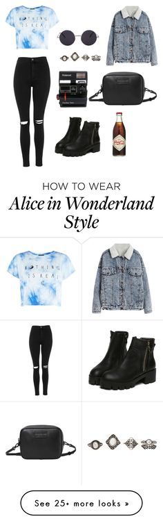 """Untitled #106"" by alipal4 on Polyvore featuring Topshop, Polaroid, Charlotte Russe and Marc by Marc Jacobs"