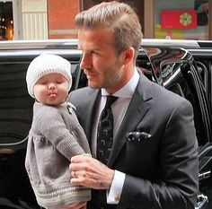 David Beckham and baby.  Yes, please.