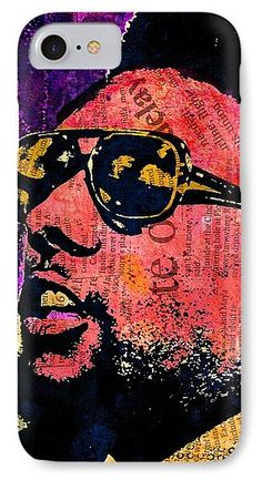 Kwame Ture IPhone 7 Case featuring the mixed media Stokely Carmichael by Otis Porritt