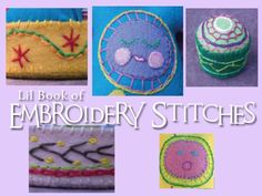 lil' book of hand embroidery stitches #free #printable #embroidery #diy #crafts