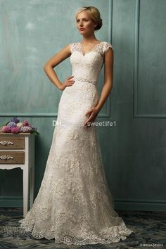 Cheap Wedding Dresses - Discount Line Amelia Sposa Wedding Gowns V Neck Short Online with $169.0/Piece | DHgate