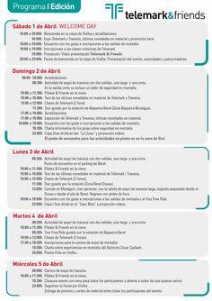 Aquí está el programa provisional de la primera edición: Telemark&Friends 2017 http://fpme.link/AuZlVR