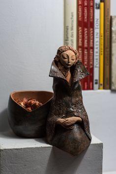 Andrei Pandea Ceramics Paper Clay Art, Box, Artist, Decor, Women, Sculptures, Paper, Figurines, Angel