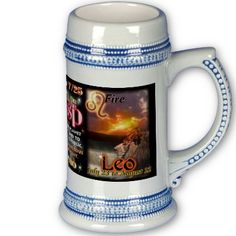 Cancer Leo cusp astrology tall stein Mug by valxart for $21.95 is one of 720  designs for 60 years of Chinese zodiac combined with 12 zodiac designs and forecast ,each used on several products . Valxart has designs on 12 zodiac cusp and 60 years of chinese zodiac designs. If you do not see desired year and zodiac sign contact Valxart at info@valx.us for links to desired images.