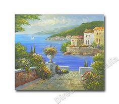 Venetian Paradise , Landscape Art Oil Painting Canvas For Living Rooms.  Price: $149.00,   - Direct Art Australia ,   http://www.directartaustralia.com.au/