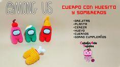 Among us 2 (cuerpo huesito y sombreros) español | CatalinArte Tejidos - YouTube