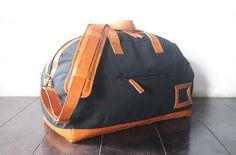 Large weekend bag shoulder bag handmade canvas by SunriseNomad