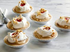 Miniature Peanut Butter and Jelly Pies recipe from Food Network Kitchen via Food Network