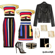 Color My Way by jazsi on Polyvore featuring polyvore, fashion, style, Balmain, Dsquared2, Charlotte Olympia, Ippolita and Lynn Ban