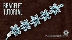 Frozen Flower or Ice Flower Bracelet Tutorial with Beads by Macrame School. Please watch more Beaded Macramé Bracelets in jewelry playlist: http://goo.gl/b4iPao Here you have a lot of choice of Macrame Bracelet tutorials for free. Please feel free to use these tutorials for your own projects, but ...