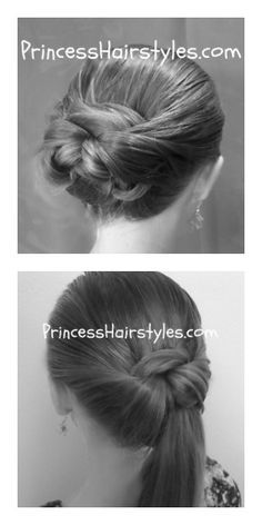 """Tuck And Wrap"" Bun and Ponytail Hairstyles.   2 Quick And Easy School Hairstyles Using A Topsy Tail!"