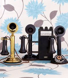 Slender and elegant, this scaled-down style debuted in 1890. 1. Brass Western Electric (left): With candlesticks, manufacturers took a small step toward portability by separating the ringer and wiring from the handset. Brass was the material of choice until it was needed for bullets during WWI. This 1909 beauty fetches $375. 2. Candlestick Pay Phone (middle): This 1908 setup goes for $750 and is an early example of the now antiquated pay phone. A series of dings (one for a nickel, two for a dime, and a long one for a quarter) notified an operator when payment was deposited. 3. Kellogg Model 44 (right): Worth $600, this 1925 phone has the then-innovative rotary dial for placing calls without an operator. RELATED: 10 Budget-Friendly Vintage Collectibles   - CountryLiving.com