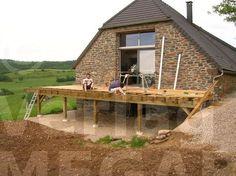Terrassen auf Ständerwerk - ▷ Holzterrasse : Die Bauanleitung zum selber bauen
