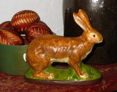 Chalkware Rabbit from antique chocolate mold