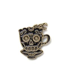 Coffee Skull Tattoo Pin – Strange Ways