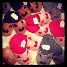 Pantofole feltro hand Made I sogni di stoffa di Erika