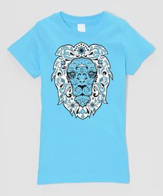Another great find on #zulily! Turquoise Sugar Lion Fitted Tee - Infant, Toddler & Girls by Micro Me #zulilyfinds