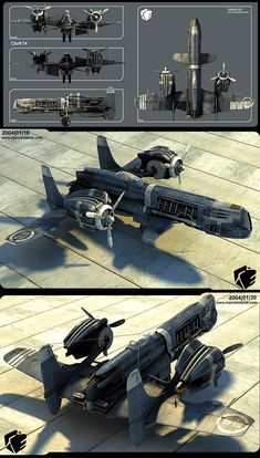 Digital diesel steampunk plane