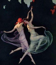 Davis, Warren (b,1865)- Woman Dancing- 'Vanity Fair', 1925
