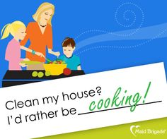 What else would you rather be doing? #maid #maidbrigade #greencleaning #maids #cooking