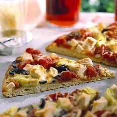 Artichoke Turkey Pizza