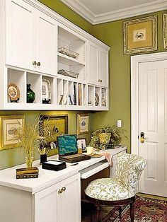 If you move cabinet to ceiling and add crown molding and then add these cubbies underneath and paint it all the same color....could be exactly what I need...did I find it? now, turquoise or white or grey ....