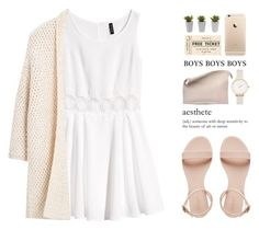 """""""where are you?"""" by alexandra-provenzano ❤ liked on Polyvore featuring Olivia Burton, Sabrina Zeng, Nearly Natural, éS, H&M and MANGO"""