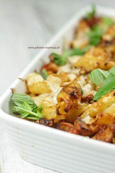 Zapiekanka włoska. Przepyszna ;) | Dietoterapia Lenartowicz Vegetarian Recipes, Snack Recipes, Cooking Recipes, Snacks, Good Food, Favorite Recipes, Dinner, Food Ideas, Diet