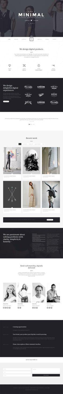 T-ONE Clean & Minimal WordPress Theme #wordpressthemes #html5 #responsivedesign #onepagewpthemes
