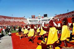 USC Football Fight On Men Of Troy USC  Band Los Angeles Coliseum