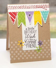 Bitty Banners; Birthday Greetings; Darling Dots; Bitty Banners Die-namics; Jumbo Party Hat Die-namics - Lisa Johnson