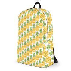 Custom printed BACKPACKS in my #etsy shop: Pineapples A Plenty - Backpack http://etsy.me/2pvzAto #bagsandpurses #pineapples #backpack #alloverprint #sublimation #pine #apple #school #tote #heckyeah