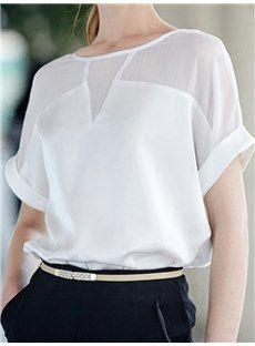 可愛いレッドホワイト2カラーTシャツTシャツコーデやすいトップス