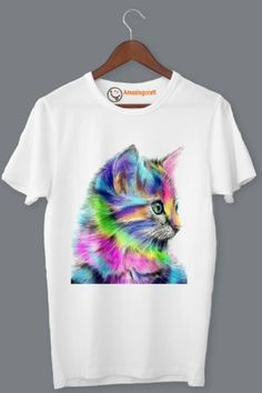 White Printed T-Shirt – Amazingcraft Quality T Shirts, Tie Dye, Printed, Mens Tops, Women, Fashion, Moda, Tye Dye, Fasion