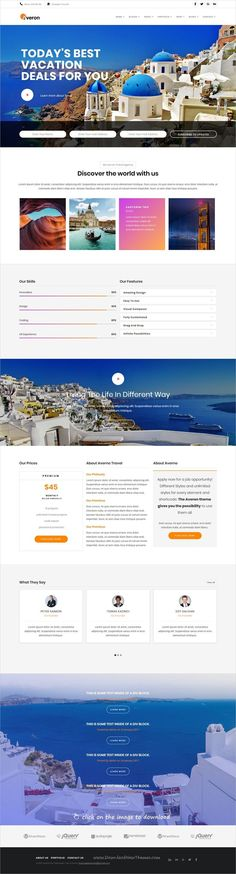 Averon is clean and modern design responsive multipurpose bootstrap template for stunning #travel #agency website with 21+ niche homepage layouts to live preview & download click on the image.