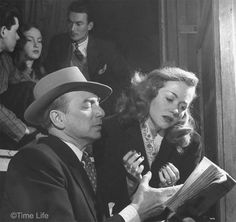 Photo by Nina Leen. ©Time Life - Actor Maurice Escande gives Barbara Laage acting lessons 1946