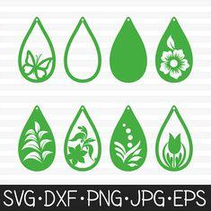 Earring Svg cut files Tear drop earring cut files Earring