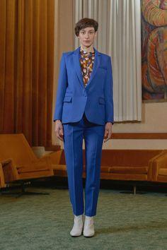 ALSTOM - suit jacket/ PERON - high waisted pencil trousers/ KOKI - gathered print shirt Printed Shirts, Breast, Women Wear, Suit Jacket, Trousers, Pencil, Contemporary, Suits, Formal