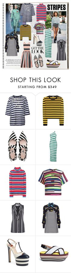 """The Spring Notebook: STRIPES"" by servioofficiel ❤ liked on Polyvore featuring moda, Dolce&Gabbana, Miu Miu, Louis Vuitton, STELLA McCARTNEY, House of Holland, Elie Saab, Gucci i Marni"