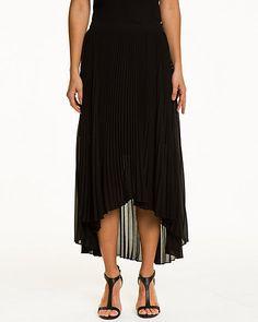 Pleated Chiffon Flared Skirt