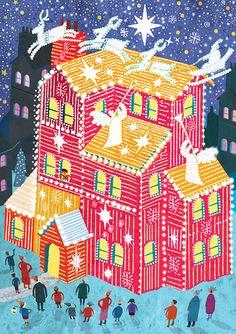 #paulboston #meiklejohn #illustration #digital #stylised #christmas #lights
