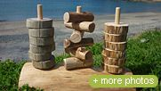 Nature Play New Zealand 3 Prong stacker A piece for the individual child to sort, count, compare, stack with the essence of nature. Many more good ideas and products...