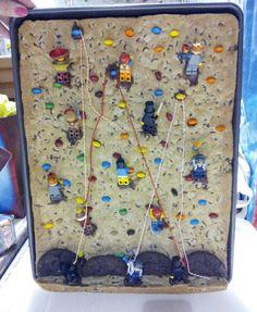 Lego rock climbing cookie cake.