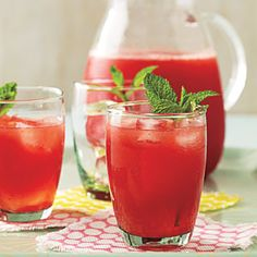 Minted Lemon-Lime Watermelon Agua Fresca | CookingLight.com