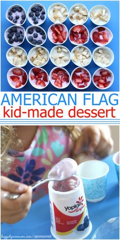 Super simple American flag snack or dessert ~ my kids loved to make and eat these!
