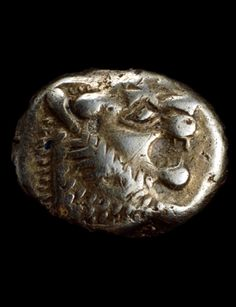 Coin made from electrum, an alloy of gold and silver. From western modern Turkey One of the very earliest coins The Greek historian Herodotus, writing in the fifth century BC, stated that 'the Lydians were the first people we know to have struck and used coinage of silver and gold. Photo: © Trustees of the British Museum
