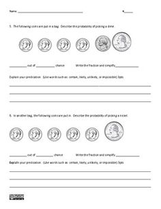 32 best probability images on pinterest classroom ideas classroom probability assessment ii common core statistics probability fandeluxe Gallery