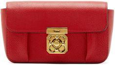 Chloé: Red Leather Mini Elsie Bag | SSENSE