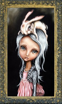 """""""Bunny Couture"""" Angelina Wrona I have loved her art for years. One day I shall own this, it is my favourite because of the bunny. Lewis Carroll, No Ordinary Girl, Galerie D'art, Wow Art, John Singer Sargent, Dark Art, Rembrandt, William Turner, Amazing Art"""