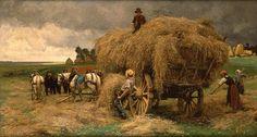 Recolte des foins ,1881- Julien Dupre, ( Nantes, Francia, 1859-1910.)